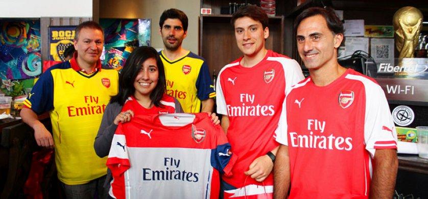Puma presentó en Buenos Aires la alianza con el Arsenal y tuvo la presencia de Diego Latorre